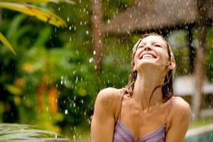 Femme pluie